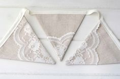 Lace Bunting Linen and Lace Garland by LinenandLaceHandmade