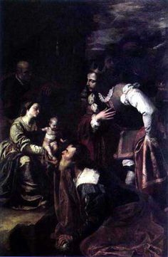 Artemisia Gentileschi (Rome,Italy,1593-1653) ~ Adoration of the Magi ~ 1636-1637 ~ oil on canvas ~ Laboratorio di Conservazione di Capodimonte, Naples ~ one of three paintings that Artemisia provided for the renovation of a cathedral at Pozzuoli. The scene is a relatively solemn, subdued work for Artemisia, but quite appropriate for a liturgical painting ~ Artemisia collaborated with Massimo Stanzione, a Neapolitan emulator of Caravaggio who had moved to Naples around the same time as…