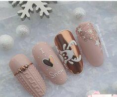 Snow Nails, Xmas Nails, Holiday Nails, Winter Nails, Christmas Nails, Stylish Nails, Trendy Nails, Cute Nails, Cute Acrylic Nail Designs