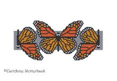 Here are 2 of my original freeform peyote/brick stitch patterns of the Monarch Butterfly cuff bracelets. The finished work (using 11/0 Delica beads) measures 2.65x6.09 & 2.23x6.23 respectively. ►This is a digital PATTERN in PDF format only - NOT a finished product. The file will be