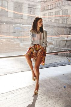 "love this look from leandra medine, aka ""the man repeller"""