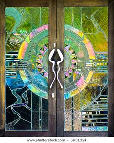 Stained glass door ~