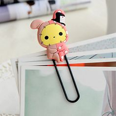 Silicone Animals Large Paper Clip(1 PCS Random Color) – USD $ 1.99