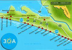 Scenic 30A bike path along the Florida Gulf Coast