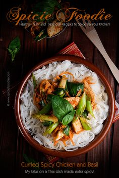 Curried Spicy Chicken and Basil