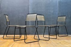 Vintage Socal Modernist String Chairs : 20th Century Vintage Industrial Modern50 Style