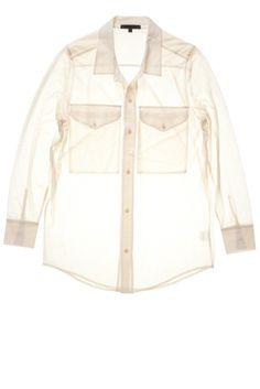 Jim | Oversize shirt | Cotton - Com4-Zero #cavadesoi #cvds #fashion #shirt #cotton #white #cream #chalk #summer // July