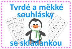 Tvrdé a měkké souhlásky, skládanka Word Search, Words, Homeschooling, Ska, Horse, Homeschool