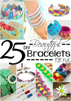 25 beautiful diy bracelets for kids kids crafts diy crafts f Kids Jewelry, Jewelry Crafts, Handmade Jewelry, Jewelry Making, Crafts For Teens To Make, Diy For Kids, Craft Activities For Kids, Kids Crafts, Armband Diy