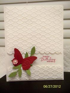 simple Geburtstagskarte mit Schmetterling