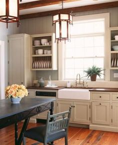 Must have kitchen. I already have the white cabinets, now just for the wall color and lanterns :)