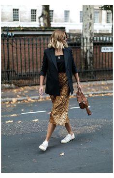 Black Blazer Styling| Back To Basics Part 4 – That Chic Fashion – Ankita Jaiswal Printed Skirt Outfit, Printed Skirts, Blazer Outfits Casual, Skirt Outfits, Black Blazer Casual, Black Blazers, Look Blazer, Leopard Print Skirt, Leopard Skirt Outfit