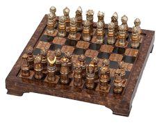 Vintage Decorative Bronze Chess Set in Home & Garden,Home Décor,Other Home Décor | eBay