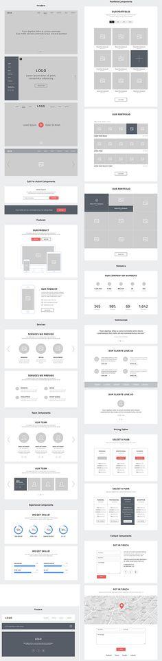 PSD веб-дизайн - один веб-сайт веб-каркасы
