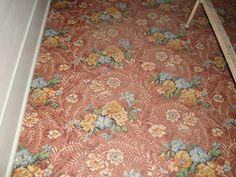Vintage linoleum in ranch bedroom Shabby Vintage, Vintage Decor, Ceilings, Interior Inspiration, Floors, Ranch, Carpet, Stairs, Victorian