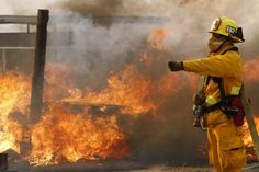 Wildfires hit West, could spread to Native American sites Wildland Firefighter, Volunteer Firefighter, Character And Setting, Horse Ranch, Fire Trucks, Lancaster California, Native American, Old Things, Fire Fighters