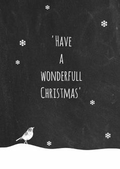Leuke kerstkaart met krijtbord print, vogeltje en sneeuwvlokjes. Design: Boefjespost. Te vinden op: www.kaartje2go.nl Maak jouw eerste kaart nu gratis!
