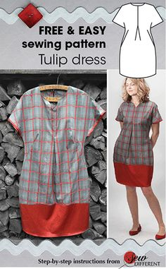 This beautiful tulip dress pattern is made of a less drapey fabric so it holds the tulip shape strongly & the exaggerated curve on the skirt is really clear