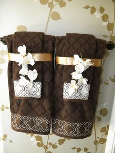 Sew Decorative Trim To Your Towels And Add Coordinating Decorative Bathroom