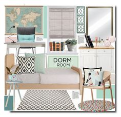 """Dorm Room Style"" by kts-desilva ❤ liked on Polyvore featuring interior, interiors, interior design, home, home decor, interior decorating, Home Decorators Collection, Driade, Essenza and Blu Dot"