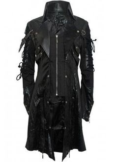 Perfect for Bucharest at our events: https://www.facebook.com/OblivionSoundWave/events  Punk Rave Punk Goth Men's Coat, £119.99
