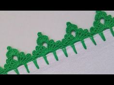 how to crochet the edge border stitch pattern 6 by thepatterfamily Crochet Edging Patterns, Crochet Lace Edging, Basic Crochet Stitches, Crochet Designs, Crochet Yarn, Crochet Hooks, Stitch Patterns, Cross Stitches, Loom Patterns