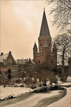 Drogenapstoren built in 1444-1446, was a part of the town wall of Zutphen in the Netherlands