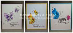 Handmade by Aletta: ALTENEW painted butterflies