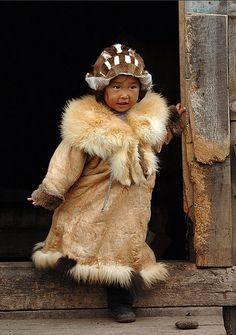 thestylishgypsy:  Little fox by Aleksander Kutskiy Chukchi girl,...