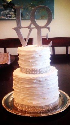Bling textured wedding cake.  Dee Miller, Flour Power Cakes
