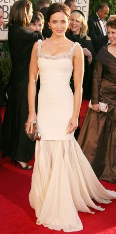 The First Time the 2015 Golden Globes Nominees Hit the Red Carpet - Emily Blunt, 2007 from #InStyle