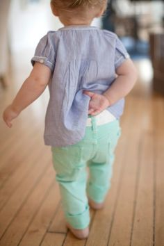 Mint denim.. i hope this is still in style in like 7 years when i have a baby someday!! Haha.