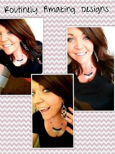 Make sure you check out her page. She makes all of her jewelry by HAND. She can also do jewelry for wedding parties. Tons of different designs, looks, colors. I can tell you that I haven't seen any of these designs around- and for a VERY good price!   https://www.facebook.com/pages/Routinely-Amazing-Designs/145933592138210