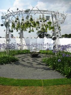 """A conceptual garden design awarded a Silver-Gilt Flora at the 2011 RHS Hampton Court Palace Flower Show- """"Excuse Me While I Kiss the Sky"""" by Anoushka Feiler"""