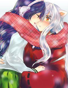 Inuyasha: Winter Warmth by *Aeirus on deviantART