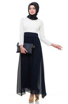 Mileny Elbise-Lacivert 237Z-17