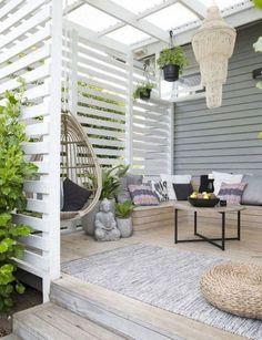 Ideas Backyard Design Pergola Outdoor Rooms For 2019 Backyard Seating, Backyard Privacy, Outdoor Pergola, Backyard Fences, Outdoor Rooms, Backyard Landscaping, Outdoor Living, Outdoor Decor, Pergola Lighting