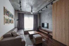 Small and stylish apartment with an industrial Vibe This apartment is located in Hanoi, Vietnam and was renovated in the year from Le Studio. Industrial Interior Design, Apartment Interior Design, Small Apartment Design, Small Apartments, Home Bedroom Design, Warehouse Living, Living Room Grey, Apartment Living, Studio