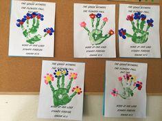 Flower Craft / Handprint, Isaiah 40:8   Preschool Projects ...