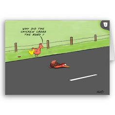 """Jokes and Punch Lines Game  Person with the joke, """"Why did the chicken cross the road""""… has to match up with the person that has the answer, """"To get to the other side"""". Great fun because answers with the wrong jokes are often quite humorous."""