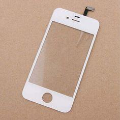 Blanc Avant Lentille En Verre + Écran Tactile Digitizer Pour IPHONE 4 4S 4G Remplacement pour Lcd Écran Cas