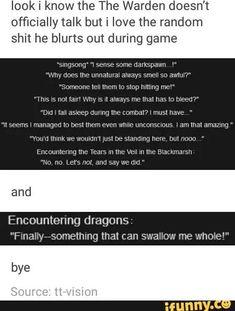 The Warden is my spirit-animal. Always.