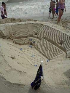 Ravens stadium sand castle