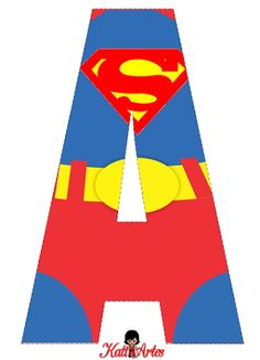 Alfabeto Gratis de Superman.