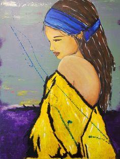 Acrylique sur toile en coton, Atelier Lu Monin. Art, Painting