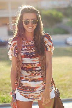 tribal print shirt, summer