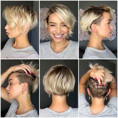 Undercut Hairstyles Women, Prom Hairstyles For Short Hair, Short Hair Cuts, Undercut Pixie, Pixie Cuts, Undercut Bob Haircut, Shaved Side Hairstyles, Pixie Haircuts, Pixie Hairstyles