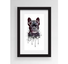 Cool Looking Dog With Goggles Framed Art