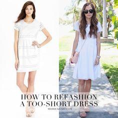 How to refashion a too-short dress | Merrick's Art