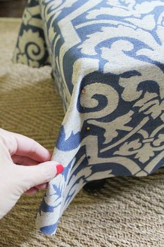 How To Slipcover an Ottoman (Again!) | Less Than Perfect Life of Bliss | home, diy, travel, parties, family, faith